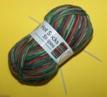 100g carneval Hot Socks stripes #618